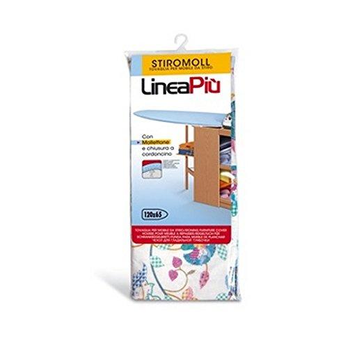 Perfetto Tovaglia mobiletto Stiromoll dimension-120x 65cm, Multicolore, Taglia Unica