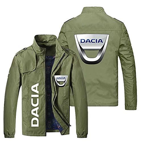 MYJOYSUE Chaqueta de Hombre Dacia Estampado de patrón Chaqueta de Secado rápido a Prueba de Viento Chaqueta de Moda Casual