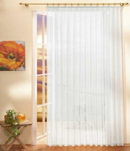 Gardinen Store Voile mit Kräuselband, 250x300, Weiß, 610001