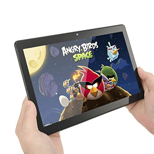 10-Zoll-Tablet, 4 GB RAM und 64 GB RAM Android 9.0-Tablet, Google GMS 3G Dual-SIM-Karte und TF-Zertifizierung, WiFi-GPS-Unterstützung (schwarz)