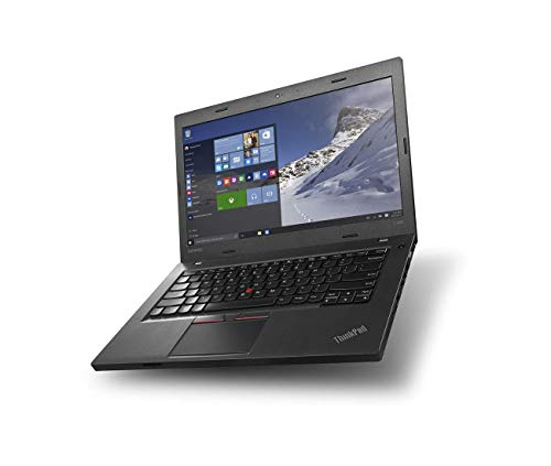 Lenovo ThinkPad L460 Notebook Black 14' Screen Intel Processor 2.0GHz 8GB RAM 256GB SSD Webcam Windows 10 Pro (Renewed)