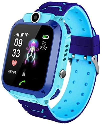 Kinder Smartphone Uhr für Mädchen Jungen mit 2-Wege-Anruf Kamera Puzzle Spiel Wecker SOS Vice Chat Taschenlampe GPS Tracker Smartwatch 1,44 Zoll Touchscreen Uhren Kinder Alter 3-12 (Pink)-Blau