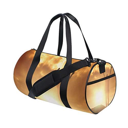 YCHY Gym Bag,Bolsa de Deporte Mujer con Camiseta de voluntario criándola,Nuevo Cubo...