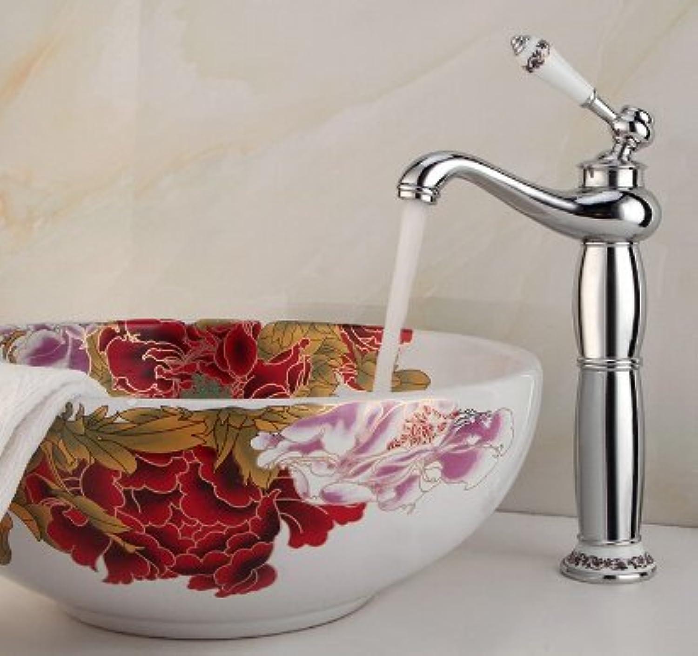 Maifeini Die Badezimmer Waschbecken Serie, Verchromtes Messing Armaturen Klicken Sie Auf Ceramic-Coated Griffe Basic Kühlkrper Wasserhahn