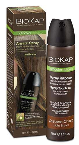 BIOKAP Touch Up Ansatzspray hellbraun, 1er Pack (1 x 75 ml)