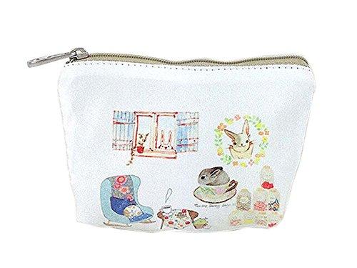 Créatif et lapin heureux toile sacs cosmétique/bourse