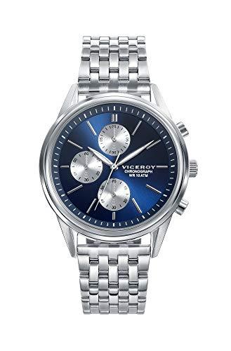 Viceroy Reloj Cronógrafo para Hombre de Cuarzo con Correa en Acero Inoxidable 401123-37