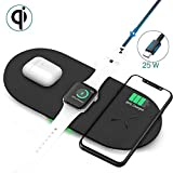 Wireless Charging Pad, 3 in 1 Wireless Charger Dock Station