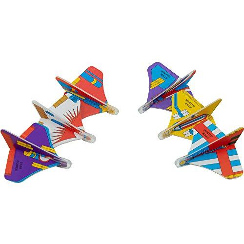 Giggle Time Mini Star Glider Surtido – (72) piezas – varios estilos – para niños, niños y niñas, recuerdos de fiesta, relleno de piñata, bolsas de regalo, premios de carnaval