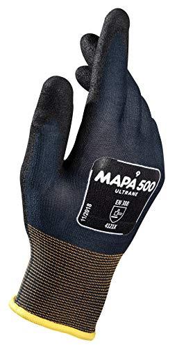 Mapa Professional Ultrane grip e prova guanti misura 6–grande, blu scuro/nero (confezione da 2)