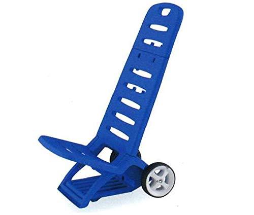Adriatic - Comfort - Chaise longue de plage en résine, résistante, pliante, avec roues et crochet - Bleu