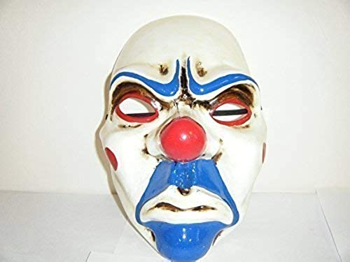 WRESTLING MASKS UK Payday Batman Dark Night Bozo der Clown Maske - Thermo Kunststoff