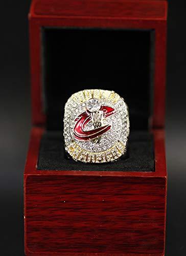 WOCTP Anillos para Hombre Cavaliers de Baloncesto 2016 Campeonato Anillo Super Bowl Fans Touvenir Ring con Regalos de Regalos de Caja de Madera Regalos 9#