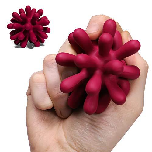 Speks Blots Silicone Stress Ball - Silky Soft, Ergonomic 100% Silicone Desk Toy - Purple Splatter