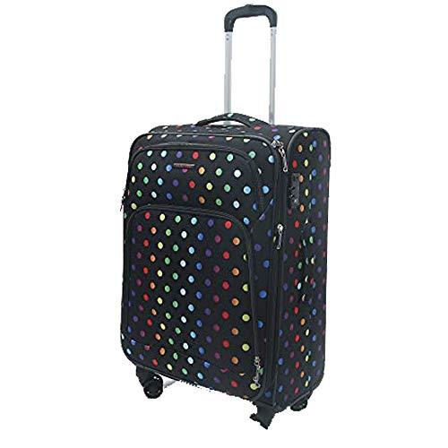 """Fantana London Collection Light Pack Spinner Koffer/Rucksack/Reisetasche/Kosmetikkoffer, gepunktet 24"""" 68x43x28 8 Wheeled M"""