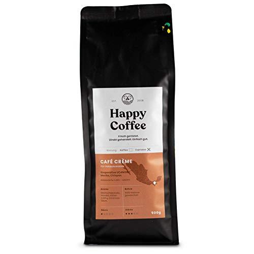 Happy Coffee CAFE CREME |Für Kaffeevollautomaten | Säurearm |schokoladig (500g)