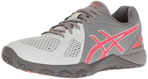 ASICS Women's Conviction X Cross-Trainer Shoe, Aluminum/Diva Pink/Glacier Grey, 7 M US