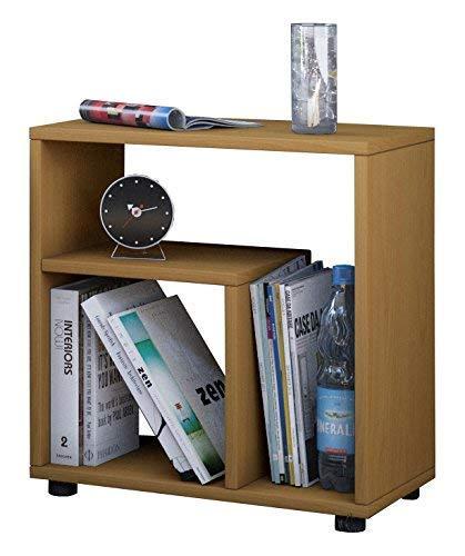 VCM Beistelltisch Sofa Tisch Nachttisch Kaffeetisch Nachtkonsole Couchtisch Wohnzimmertisch Buche 55x50x30 cm