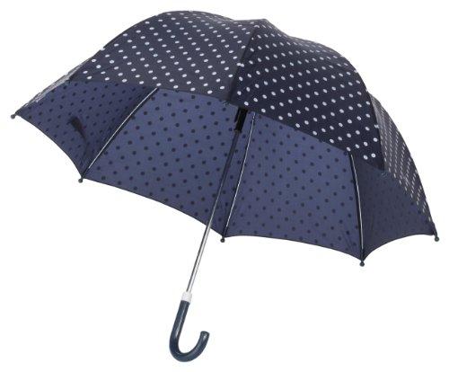 Playshoes Kinder Regenschirm, One Size Schirm mit kindgerechtem Mechanismus, Diameter 70 cm, gepunktet
