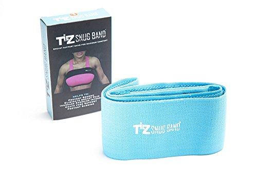 SNUGBAND Banda de soporte de pecho ajustable ideal para el dolor de pecho y flacidez en el pecho - azul - Small