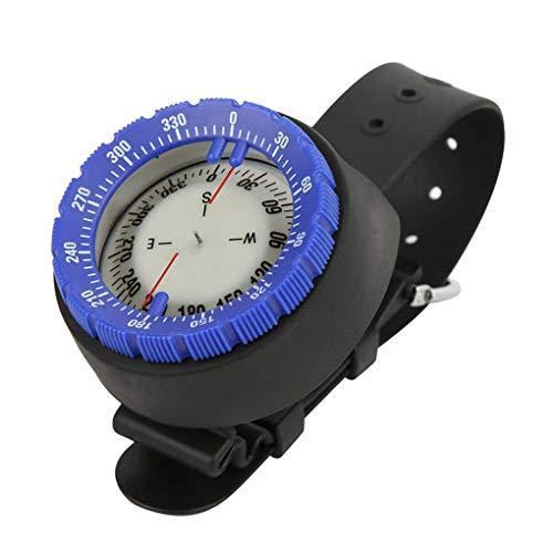 TYYW Brújula, brújula subacuática Profesional de Buceo 50M brújula Impermeable Navigator Reloj Digital de Buceo con la brújula para la natación Buceo con escafandra,Azul