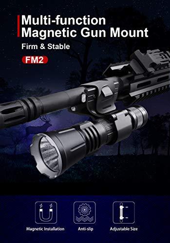 FM2 Klarus Fixation universelle magnétique sur arme, pour lampe torche tactique