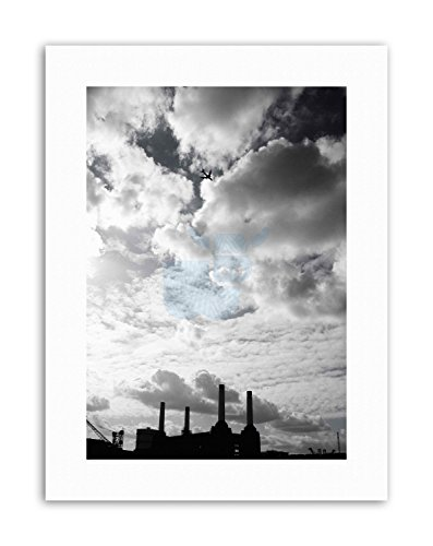 Wee Blue Coo LTD Architecture Battersea Power Station Jet Sport Canvas Art Prints