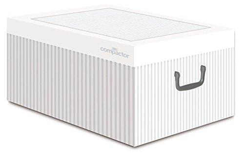Compactor Anton Aufbewahrungsbox, Karton, weiß, 50x 40x 25cm