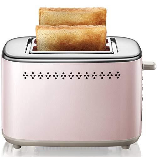 ZZJ Mini Tostapane Uso Domestico, Casa Colazione Tostapane 2 Pezzi Completamente Automatico con Copertura Antipolvere, Tostapane in Acciaio Inox con Barbecue Sbrinamento Funzione