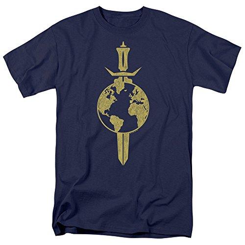 Trevco Star Trek Terran Empire Herren-Shirt, kurzärmelig, Marineblau, Größe XXL