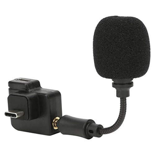 LXSMXJ Adaptador de micrófono USB-C Dual Ligero de 3,5 mm con micrófono para micrófono de Marco de acción