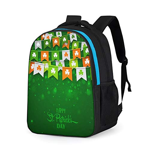 NeiBangM St Patrick's Day modern laptopvak rugzakken dames camping laptoptas voor winkelen