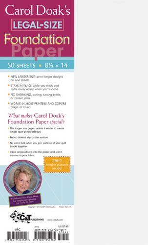 Carol Doak's Legal Size Foundation Paper: 50 Sheets, 8 1/2