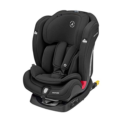 Maxi-Cosi Titan Plus, Comfortabel Autostoeltje, Omkeerbaar, Groep 1-2-3, Isofix, Vanaf 9 Maanden Tot 12 Jaar, 9-36 Kg, Authentic Black