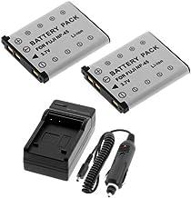 2Pcs Battery+Charger for Fuji FinePix J10 J100 J110W J12 J120 J150W J15fd J20 J250 S610 Z100FD Z10FD Z200FD Z20fd Z30 Z300...