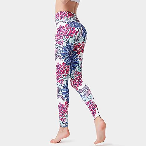Pantalones de yoga para mujer, estampado nórdico, color rojo, levantamiento de glúteos, cintura alta, ultra suave, ligeros, elásticos, ajustados, para correr, para mujeres, como en la imagen, XL