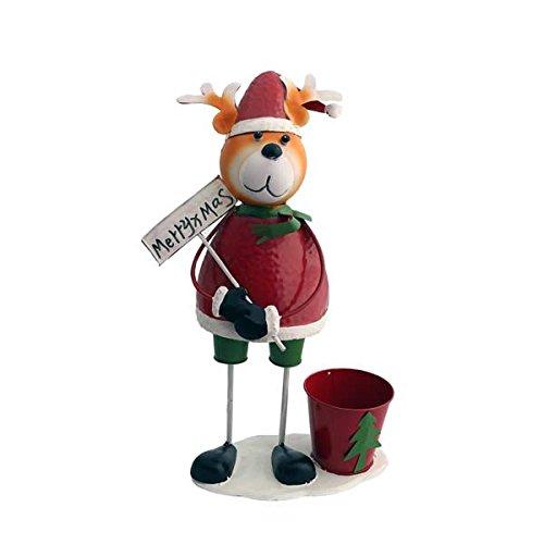 Gall&Zick Blumentopf Pflanztopf Übertopf Topf Figur Weihnachten Elch Rentier Dekoration