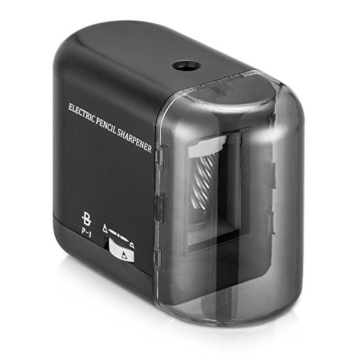 BOOCOSA Pencil Sharpener, BEST Heavy Duty Steel Blade, Electric Pencils Sharpener with Auto Stop for School Classroom Office Home � Precise Perfect Point Every time for Artists Kids Adults (0.8)