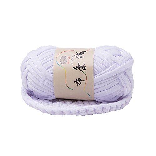 Super1798 Cobertor de Cesta Grosso Trançado de Fio de Crochê Faça Você Mesmo Fio Chique - Branco Escuro