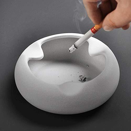 Cenicero Gran cenicero de cerámica blanca personalidad creativa moderna minimalista casa sala...