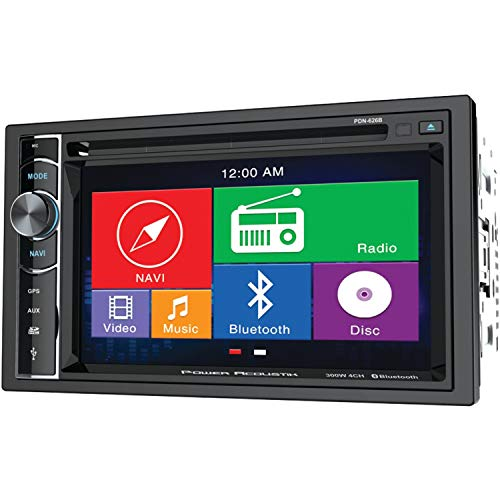 Power Acoustik PD-623B 2-DIN Source Unit With Bluetooth//6.2 LCD,BLACK
