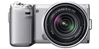 Sony NEX-5NKS Systemkamera (16,1 Megapixel, 7,5 cm (3 Zoll) Display, Live View) inkl. 18-55mm Objektiv, silber (B005JRI4FC) | Amazon price tracker / tracking, Amazon price history charts, Amazon price watches, Amazon price drop alerts