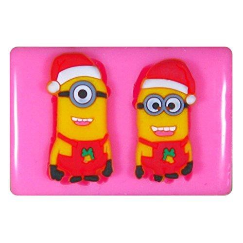 Kleine Weihnachtssankt Minions SilikonForm für Kuchen Dekorieren, Kuchen, kleiner Kuchen Toppers, Zuckerglasur, Fondantform, Sugarcraft Werkzeug durch Fairie Blessings