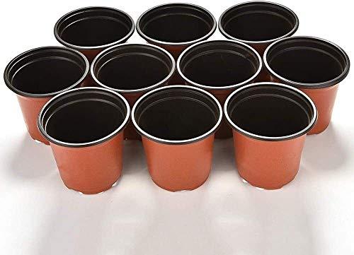 WOHAO Panier de Fleurs Suspendus Pots de Fleurs 10 pcs Mini Plastique Ronde Flower Pot Nursery Terre Cuite Planteur Accueil Décor du Vert Usine Outils artificiels Raffinement Jardin (Color : -)