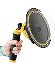 AuyKoo Waterproof GoPro Dome Port for GoPro Hero Series, Diving Lens Photography Dome Port with Floating Hand Grip and Trigger for underwater photography
