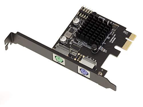 Kalea Informatique - Tarjeta PCIe de 1 x PS/2-2 puertos PS2 con...