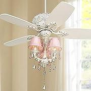 """44"""" Casa Deville Pretty in Pink Pull Chain Ceiling Fan"""