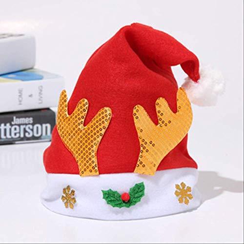 Weihnachtsschmuck Erwachsene Kinder Anzieh Requisiten Haarband Kopfbedeckung Kopfbedeckung Schneemann Geweih Stirnband Weihnachtsmütze Goldenes Geweih Für Kinder