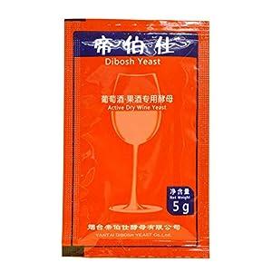 qianele 5g levadura de Vino elaboración casera Saccharomyces cerevisiae levadura de Vino para Alcohol de UVA Licor de levadura Seca Activa