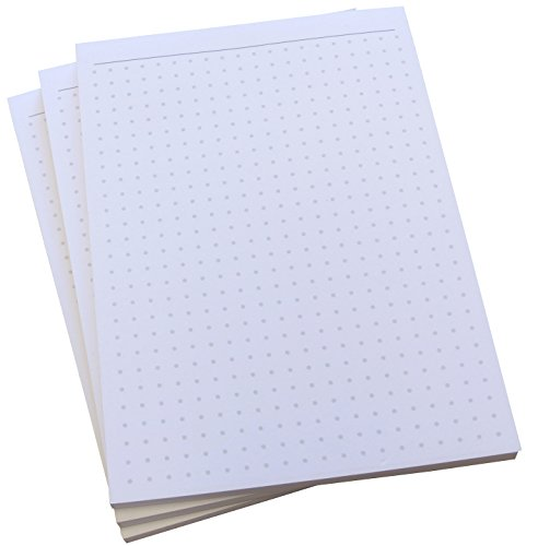 Notizblock - gepunktet in Grau - 50 Blatt - Staffelpreise verfügbar - DIN A6 Format (22396)